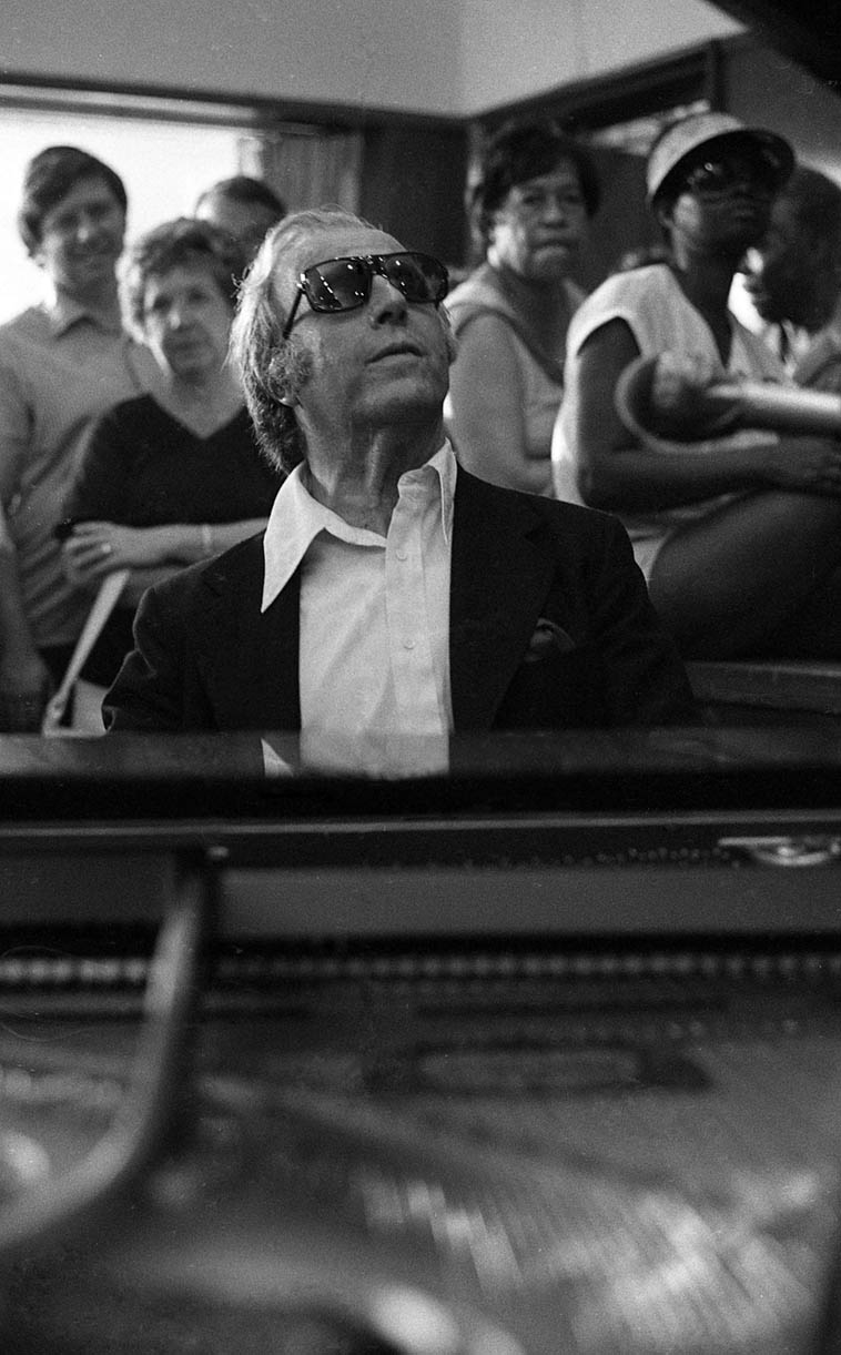 George Shearing -- June 10, 1979 Los Angeles -- photo by Mark Weber