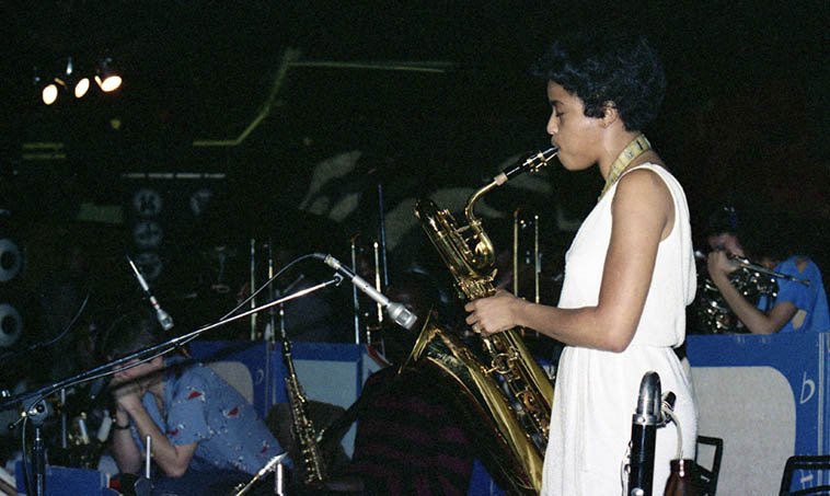 Fostina Dixon -- March 22, 1981 Los Angeles w/ Leslie Drayton Orchestra -- photo by Mark Weber
