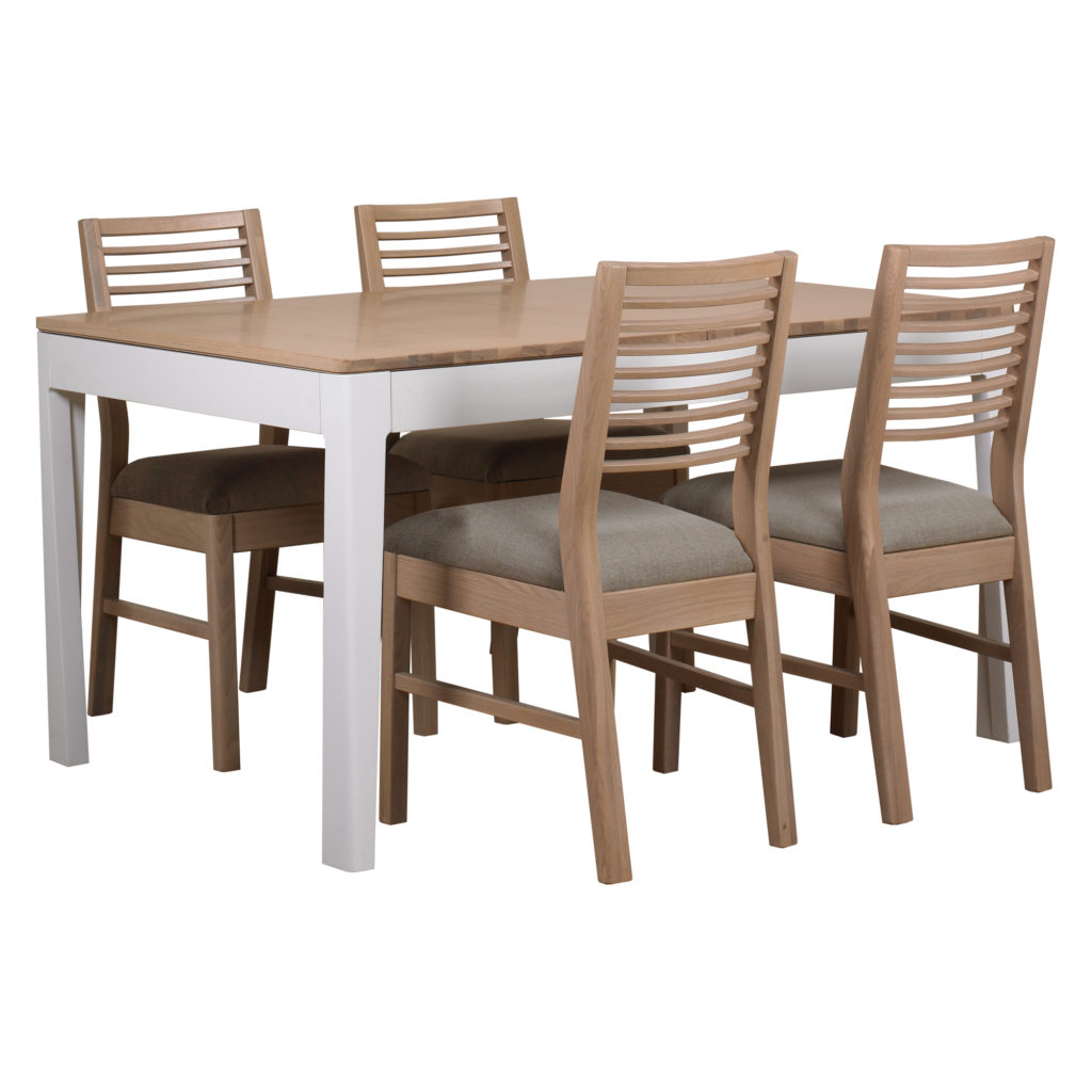 white washed oak dining table and chairs vanity with back pgo 43 4 linen seat wash mark