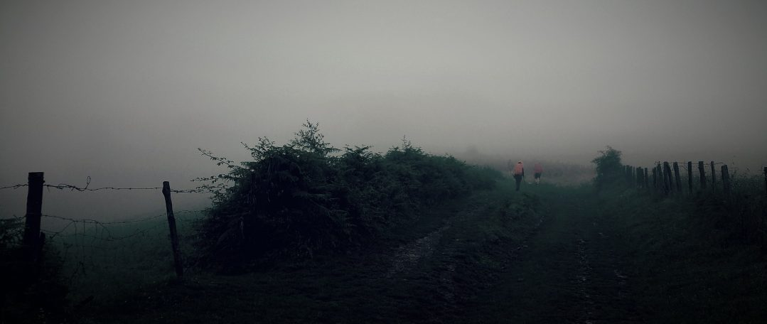 Day 1- Lost in the fog-an apt metaphor for my life at the time. The Pyrenees,