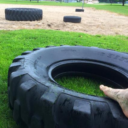 tire-flipping