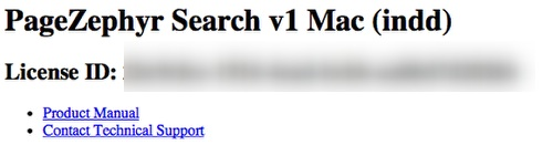 Click on PageZephyr Search Mac to Contact Markzware Technical Support