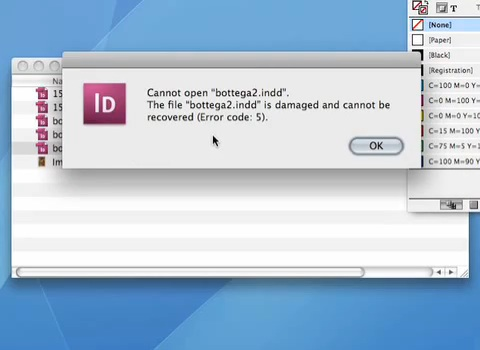 Request Markzware's DTP File Recovery Service to Open InDesign When Error Code Warns of Corrupted InDesign CC