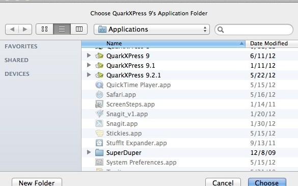 Markzware ID2Q InDesign to QuarkXPress 9 Select Version of QuarkXPress where ID2Q is located