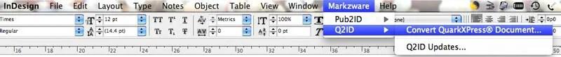 Q2ID Menu to Open QuarkXPress in Adobe INDD Creative Suite 5.5