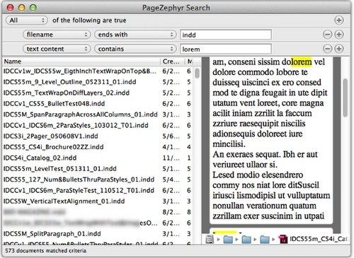 Markzware PageZephyr Search Mac Example 4
