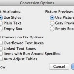 Markzware ID2Q pour QuarkXPress conversion des messages Options Fix