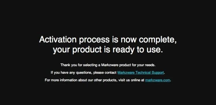 Markzware ID2Q for QuarkXPress Successful Activation