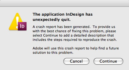 The application InDesign has unexpectedly quit. Markzware File Recovery can help.