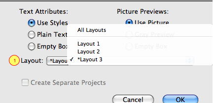 Markzware MarkzTools QuarkXPress Layout Conversion Options