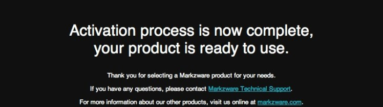 Markzware Pub2ID for InDesign CS6 Mac Successful Activation