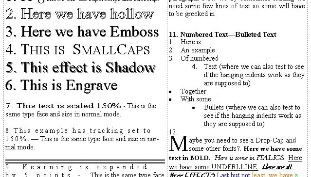 Markzware Pub2ID for InDesign CS6 Supported and Non-Supported Text Formatting Effects