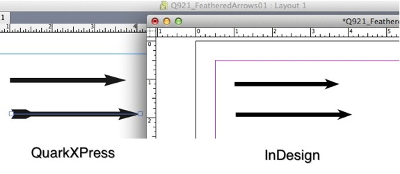 Markzware Q2ID for InDesign CC Feathered Arrows