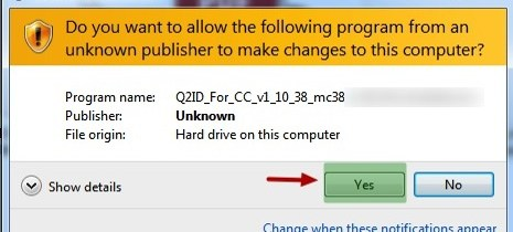 Markzware Q2ID for InDesign CC Installer and Windows UAC Window