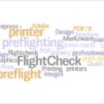 Create Convert Preflight-Druck: Wordle Preflighting Prepress-Wort-Wolke
