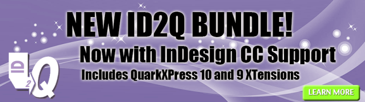 Markzware ID2Q Bundle New InDesign CC XTensions banner