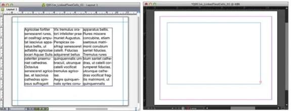 Conversion des cellules de table QuarkXPress en InDesign CC via le logiciel de conversion Q2ID