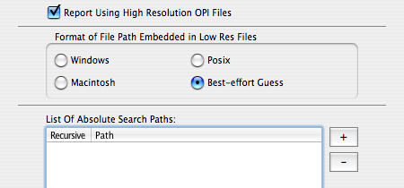 Markzware FlightCheck OPI Preferences to Collect/Report Low and High Resolution