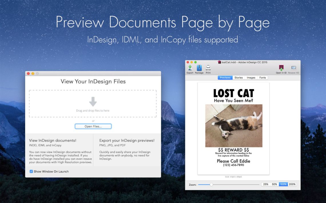 Preview InDesign Files Page by Page When Working on Multiple INDD Documents, Using Markzware ID Util for macOS
