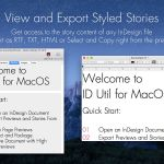 Markzware ID Util macOS View and Export Styled Stories