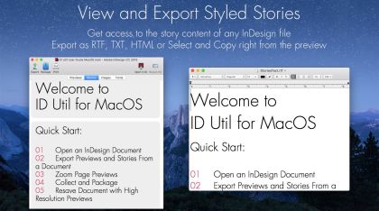 Markzware ID Util macOS Voir et Export Stories Styled