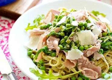 Spring Pasta with Prosciutto & Peas