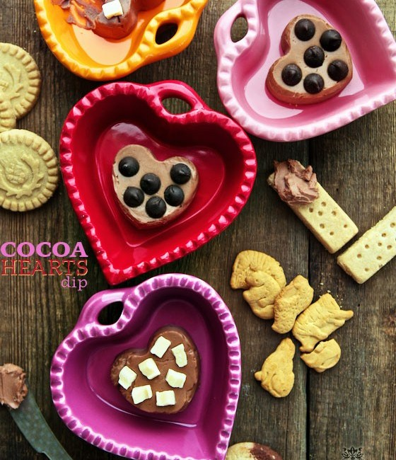 Cocoa Hearts Dessert Dip | Great for Valentine's Day, Game Day & Entertaining | MarlaMeridith.com