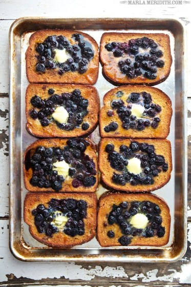 Get the recipe for this amazing Baked Blueberry French Toast on MarlaMeridith.com