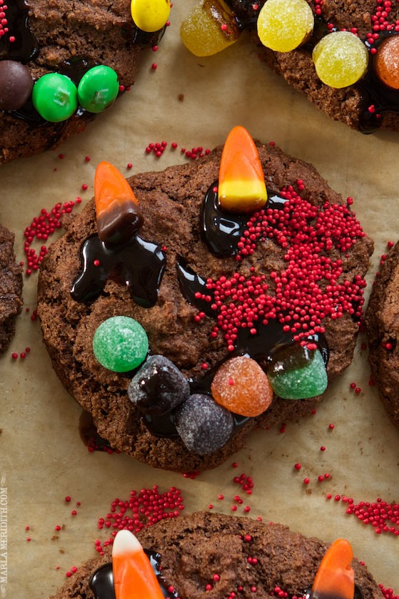 Halloween Monster Cookies | Your kids will love decorating these! MarlaMeridith.com
