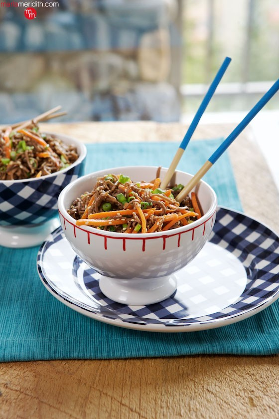 Sesame Noodles | This recipe is a must for summer potlucks! MarlaMeridith.com ( @marlameridith )
