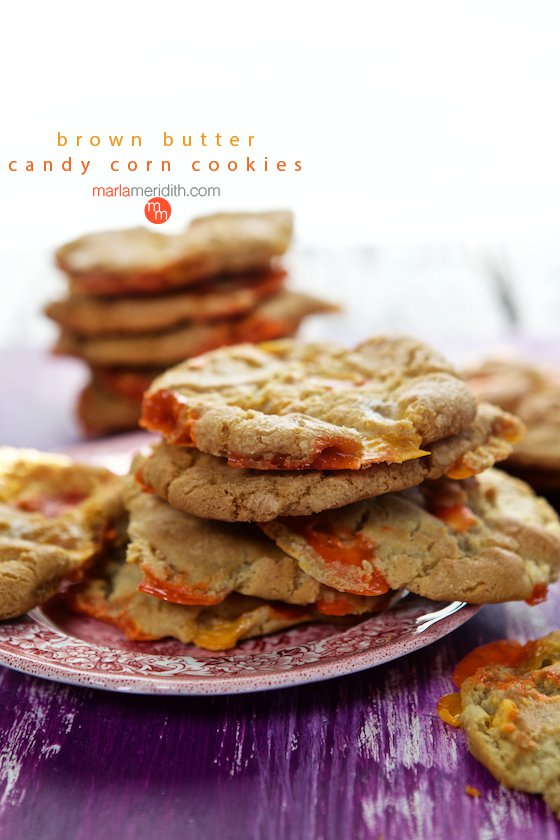 Brown Butter Candy Corn Cookies are great for #Halloween | MarlaMeridith.com ( @marlameridith )