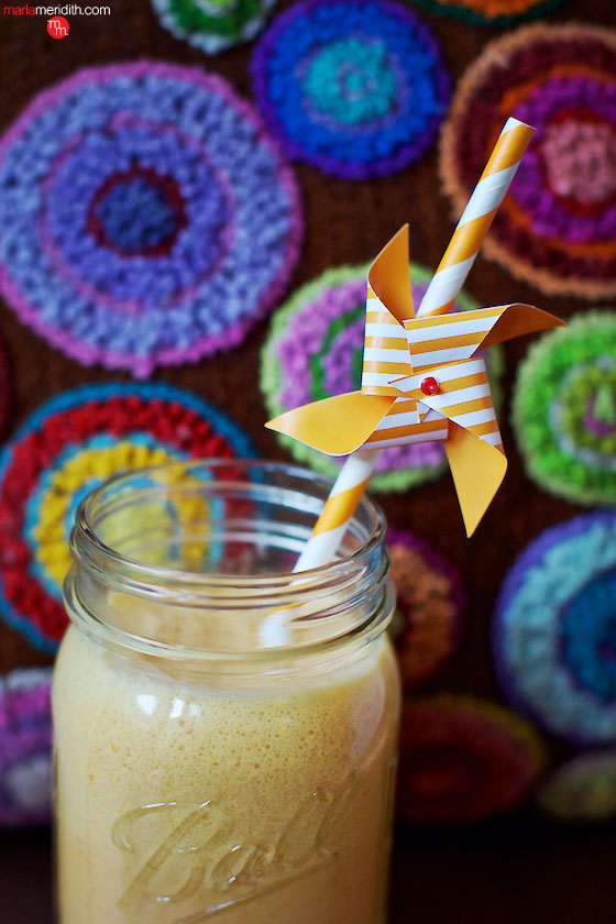 Start your day off right with our 24K Carrot Coconut Smoothie. So healthy & delicious! MarlaMeridith.com ( @marlameridith )