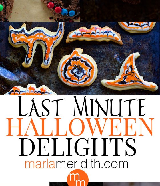 Last Minute Halloween Delights! Recipes you can make in a pinch on MarlaMeridith.com #recipes #halloween
