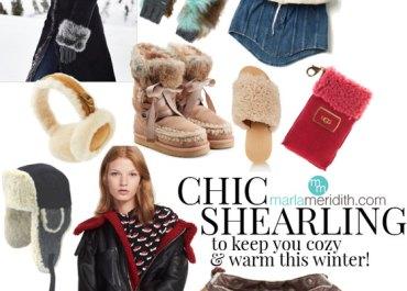 We LOVE super warm sheaarling for winter! MarlaMeridith.com #shearling #fashion #luxury