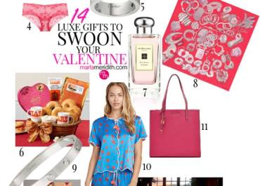 14 Luxe Gifts to Swoon Your Valentine! MarlaMeridith.com #shopping #valentinesday #fashion #gifts