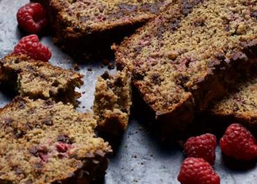Chocolate Chip Raspberry Banana Bread