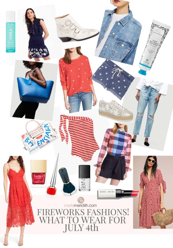 Want to look super HAUTE for July Fourth? Look no further! Here are our picks for Fireworks Fashions: What to Wear for July 4th! Shop the post on MarlaMeridith.com