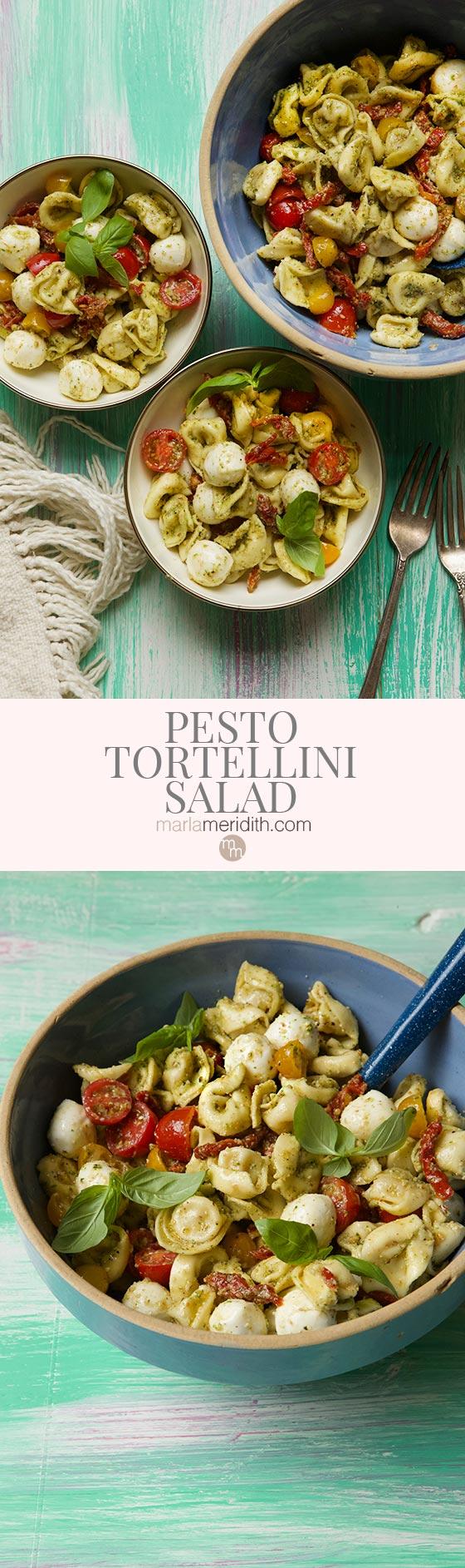 Get the recipe for this delish Pesto Tortellini Salad on MarlaMeridith.com