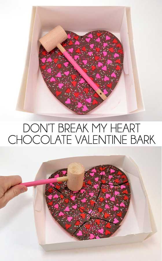 Don't Break My Heart Valentine Bark via Dream a Little Bigger