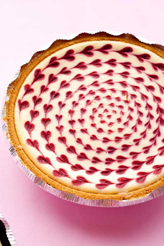 White Chocolate Raspberry Cheesecake via Cooking Classy