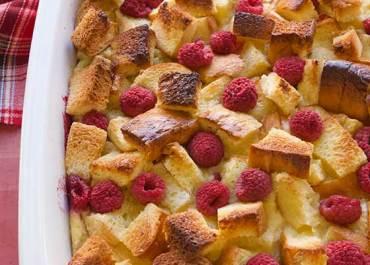 Raspberry Brioche Bread Pudding