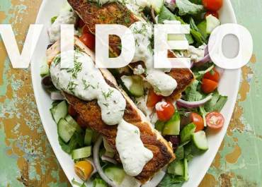 Video: Greek Salmon Salad with Creamy Feta Dressing