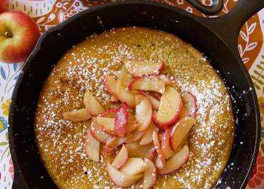 Pumpkin Dutch Baby with Caramelized Apples