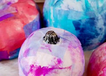 Holiday Craft: Tie-Dye Patchwork Pumpkins | MarlaMeridith.com