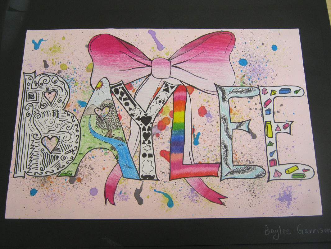 8th Grade Graffiti Name Design And The Elements Of Art