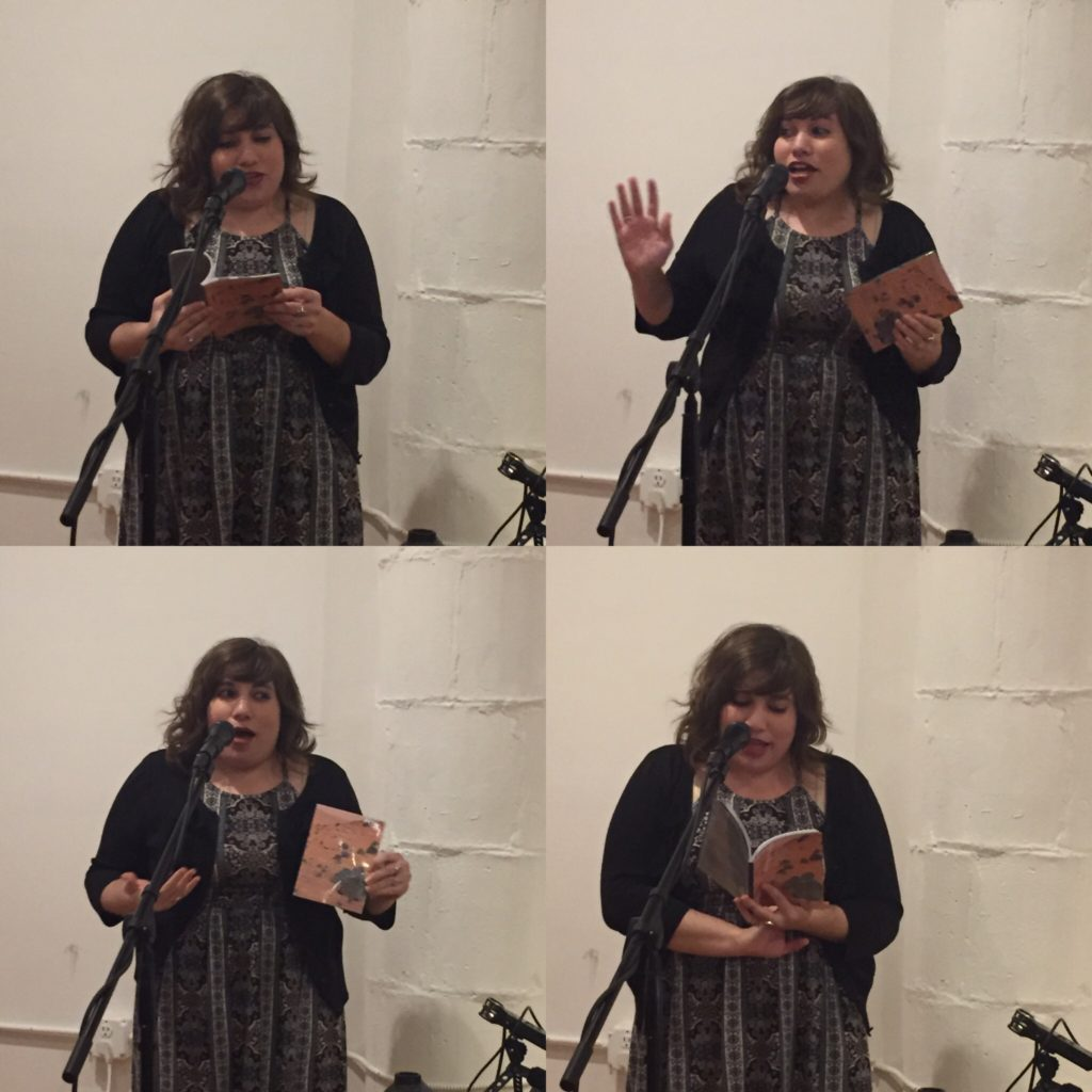Reading at Berl's Poetry Shop.