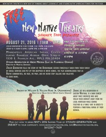 New Native Theatre Summer Tour