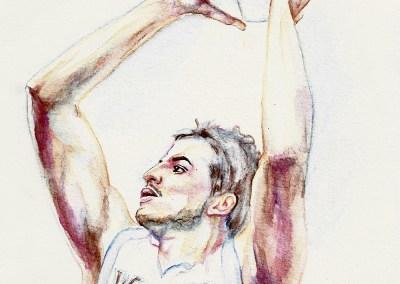 Nemanja Bjelica watercolor