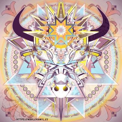 Buffalo Spirit Vector Illustration by Marlena Myles