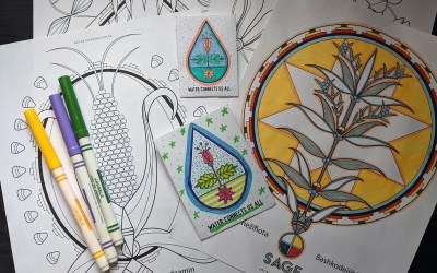 Free Coloring Pages of the 3 Sisters/Sage & DIY Seed Packets